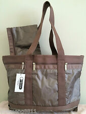 NWT LeSportsac Medium Travel tote bag Purse terra lighting brown metallic $98