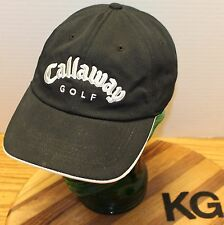 CALLAWAY GOLF V SERIES HAT ADJUSTABLE BLACK EMBROIDERED WHITE STITCHING GUC
