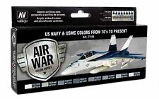 (15,18€/100ml) Vallejo Model Air US NAVY & USMC Colors from 70's to present  Set