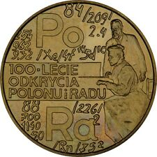 2 Zl POLEN 1998 100th anniversary of discovering polonium and radium