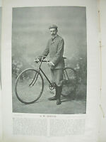 THE SPORTFOLIO PORTRAITS 1896 VINTAGE CYCLING PHOTOGRAPH PRINT A.W. HORTON
