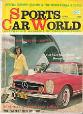 Sports Car World 1965 Apr Mercedes 230SL Panhard 24 CT BMW 1800TI Bentley Lola