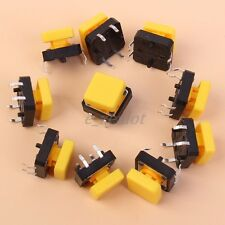 5pcs Momentary Tactile Switch Tact Push Button Switch With Square Cap 10*10mm