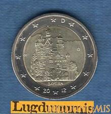 2 euro Commémo - Allemagne 2012 Chatreau Neuschwanstein G Karlsruhe Germany
