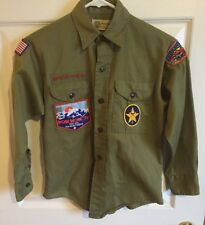 Vintage Green Official Boy Scouts Of America Long Sleeve Shirt