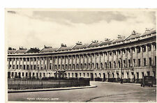 Royal Crescent Bath Postcard -Posted to 'Staff' - Vintage Downton Abbey Style