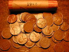 1946-P LINCOLN WHEAT CENT PENNY ROLL, nice condition