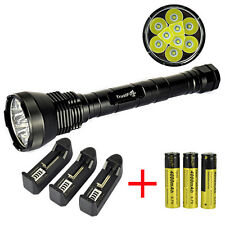 11000 Lumen TrustFire 9x XM-L T6 LED Flashlight Torch 3*18650+ Battery Charger