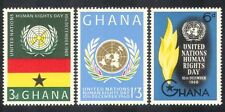 Ghana 1960 Human Rights Day/UN/UNO/Flame/Torch/Emblem/Animation 3v set (n38581)