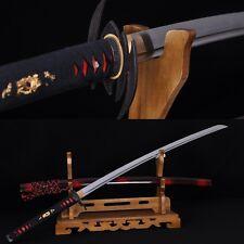 HAND FORGED JAPANESE SAMURAI SWORD KATANA BAT TSUBA FULL TANG BLADE VERY SHARP