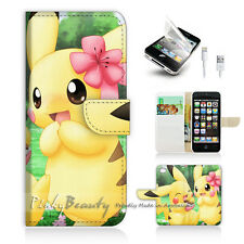 iPhone 5 5S Flip Phone Case Cover PB10168 Pikachu Pokemon