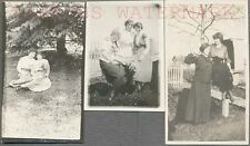 Lot of 3 Vintage 1900s Photos Pretty Girls in Arms Lesbian Interest 694077