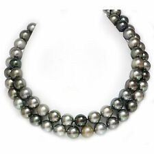 """Tahitian South Sea Opera Pearl Necklace 13 -12 mm 14k Yellow Gold 34"""" 1/2"""