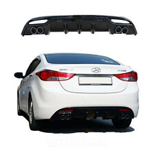 Rear Bumper Diffuser Guard Glossy Black for 2011 - 2013 Hyundai Elantra (Avante)