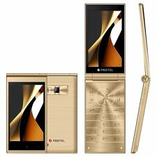 FREETEL MUSASHI DUAL SCREEN DISPLAY ANDROID 5.1 FLIP PHONE UNLOCKED JAPAN GOLD