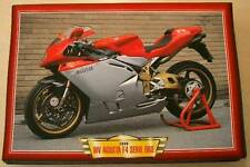 MV AGUSTA F4 SERIE ORO 750 CLASSIC MOTORCYCLE BIKE 1990'S  PRINT PICTURE 1999