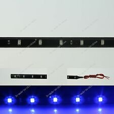 Blue 60CM 2Ft 24' 30 LED 3528 LED Flexible Strip Light Waterproof DRL 12V M016