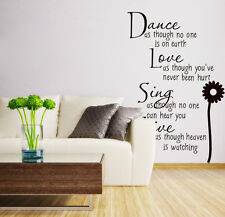 350017# Removable Art Vinyl Quote DIY Wall Sticker Decal Mural Home&Room Decor