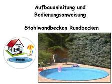 Istruzioni di montaggio muro acciaio bacino POOL PISCINA ROTONDA bacino circa pool