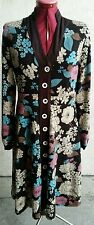 FUNKY PEOPLE Flower Dress Women's Medium L/S Multi Color Full Button Polyester
