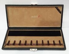 "oboes.ch 10 oboe Woodwind  reed case Black Leather & Camel Brown ""Made in Europe"