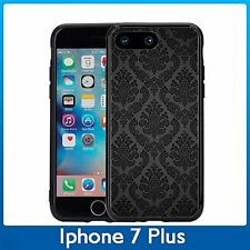 Black Damask Print For Iphone 7 Plus (5.5) Case Cover By Atomic Market