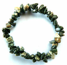 **BEAUTIFUL PRESELI BLUESTONE CRYSTAL CHIP BRACELET - HEALING / REIKI**