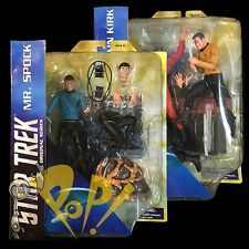 "Star Trek TOS Captain KIRK & Mr SPOCK 7"" Action Figure SET Diamond SELECT Toys!"