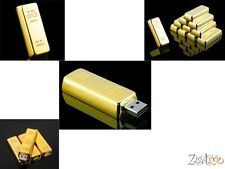 Clé key USB Lingot d'or, Flash drive Gold bullion, USB-Stick Goldbarren 32 Gb Go