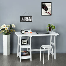 Ladder Desk Home Office Study Work Station With 2 Book Shelf CD Storage Table