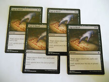 4x MTG Sign in Blood-Firmare col Sangue Magic EDH MOM2 Modern Masters ING x4