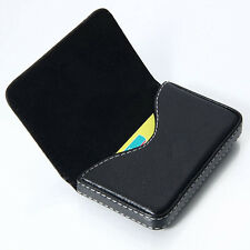 New Mens Black Pocket PU Leather Business ID Credit Card Holder Case Wallet