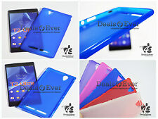 For Sony Xperia T2 Ultra Dual XM50 Soft Silicon Jelly Gel Back Case Cover - Blue