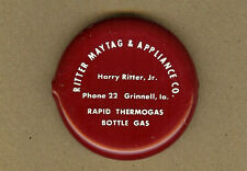 Harry Ritter Maytag Appliance, Thermogas, GRINNELL, Iowa IA Squeeze Coin Purse