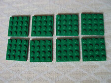 Lego ~ Lot of 8 4x4 GREEN Building Plate Baseplates Base 4 x 4 #bhyjm