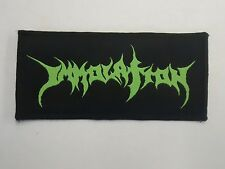 IMMOLATION DEATH METAL WOVEN PATCH
