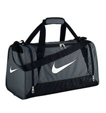 Nike BA4832-074 Brasilia 6 Duffel Bag XS Grey / Black / White