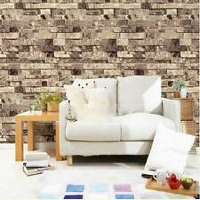 10M 3D stone brick tile design effect modern vintage natural embossed vinyl