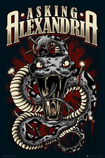 Asking Alexandria poster - Snake - UK Metalcore Music Poster