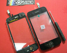 VETRO+TOUCH SCREEN +CORNICE FRAME per APPLE IPHONE 3GS TOUCH SENSORE TASTO HOME