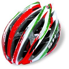 SH+ - CASCO STRADA MTB SENIOR ZEUSS RED/WHITE/GREEN MADE IN ITALY-TG.L/XL
