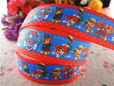 2M X 22MM NICK JR PAW PATROL GROSGRAIN RIBBON FOR CAKE'S CRAFT CARDS red edge