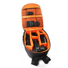 Waterproof Lining DSLR Camera Lens Backpack Bag Case for Canon Nikon Sony Orange