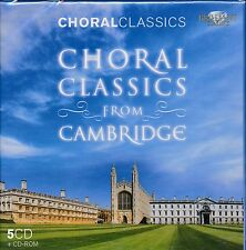 Choral Classics From Cambridge box 5-disc CD NEW CD ROM Heny Purcell