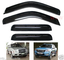 BLACK WIND SHIELD DEFLECTOR WEATHER SHIELD FORD RANGER 4x4 PJ PK XLT UTE 4 DOORS