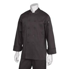 Chef Works Bastille Basic Chef Coat - BASTBLKXS