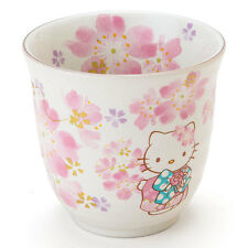 Hello Kitty SAKURA Tea Cup & 2 Saucer SET from Sanrio Japan Cherry Blossom NEW
