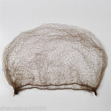20Pcs Ballet Dance Dark Brown Elastic Hair Net Bun Cover Invisible Hairnet 50cm