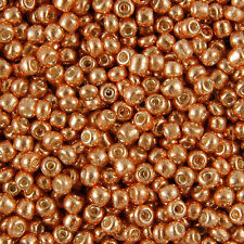 Wholesale 1KG Bronze Metallic Round Hole Glass Seed Beads Size 8/0 3mm