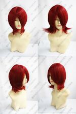 935 New Short Dark Red Cosplay Party Wig Free Shipping